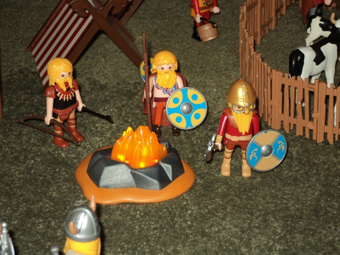 Vikings around a fire.