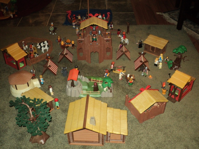 Rear shot of the Viking Village.