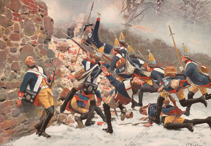 Schlacht bei Leuthen 1757 / Röchling - Battle near Leuthen 1757 / Röchling - Battle near Leuthen 1757 / Röchling