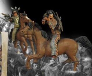 Paragon Sioux Warriors Painted Mounted B
