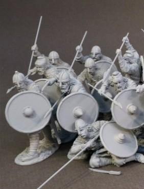 Medieval Artillery Crew Set 1-3 figures #S54-64 Tin Soldier Set 54 mm 1:32