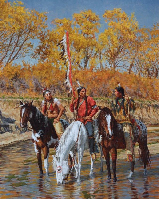 brazos_river_reconnoiter_texas_comanche_giclee_james_ayers_