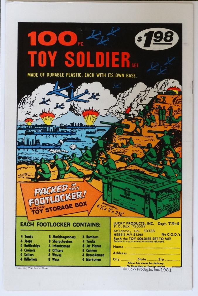 Comic Book Soldier Ad