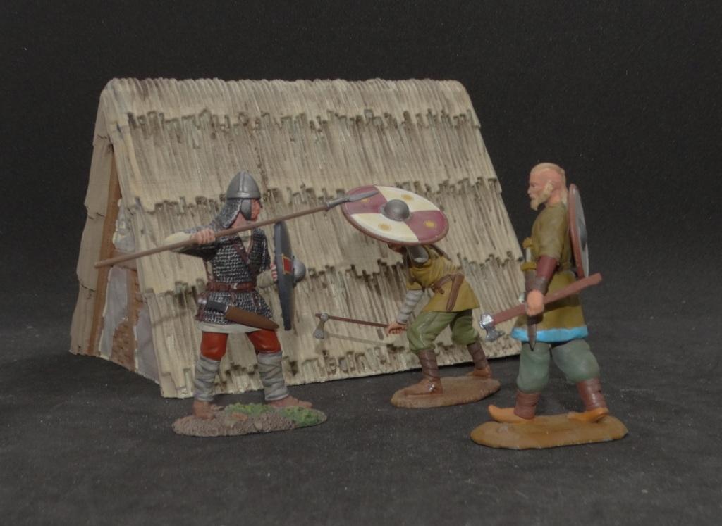 W. Britain Viking & Saxon with a Warhorse Miniatures Viking.